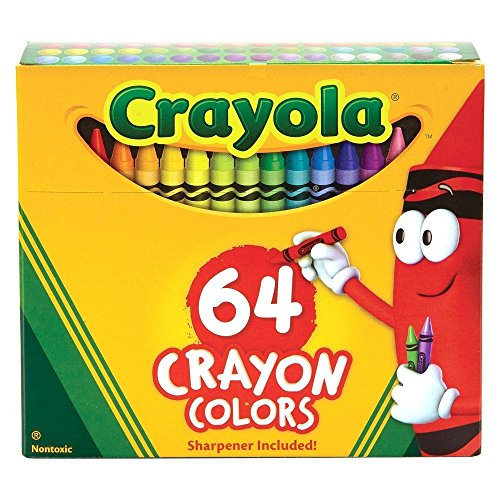 Classic Color Pack Crayons, Assorted 64/Box, Total 6 Boxes