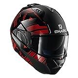 Shark Unisex-Adult Flip-Up Helmet (Black/Chrome/Red, XL - 61-62 cm -...