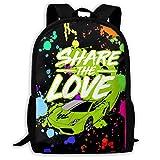 Fashion Share_Love Backpack Water Resistant Rucksack Daypacks Schoolbag