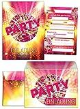 12 Einladungskarten zum Geburtstag incl. 12...