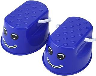 SODIAL 1 par Equipo de Entrenamiento de Equilibrio Deportivo Divertido al Aire Libre Salto Andar en zancos de plastico Divertido para ninos Azul