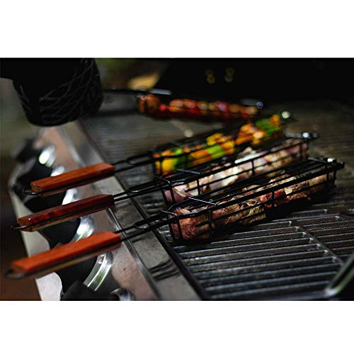 Charcoal Companion Nonstick Kabob Grilling Baskets, Set of 4 (Renewed)