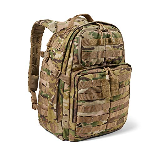 5.11 Tactical Backpack – Rush 24 2.0 – Military Molle Pack, CCW and Laptop Compartment, 37 Liter, Medium, Style 56564 – Multicam