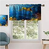 Hiiiman - Juego de 2 cortinas cortas, 106,7 x 91,4 cm