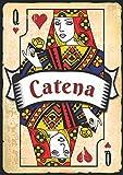 Catena: Taccuino A5 | Nome personalizzato Catena | Regalo di compleanno per moglie, mamma, sorella, figlia ... | Design: carte da gioco | 120 pagine a righe, piccolo formato A5 (14.8 x 21 cm)