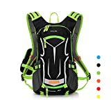 LOCALLION Cycling Backpack Biking Daypack Bike Rucksack Cycling Rucksack For Outdoor Sports Running Travelling Mountaineering Ultralight Breathable Hydration Pack Helmet Net Men Women 18L Green
