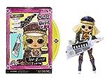 LOL Surprise OMG Remix Rock Muñeca FAME QUEEN - 15 sorpresas que incluyen keytar, vestido, zapatos, cepillo, soporte para muñecas, letras y paquete de tocadiscos - Edad: 4+