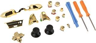 gazechimp Conjunto De Botões Para O Microsoft Xbox One Controller Kit Completo De Acessórios 18x - Ouro