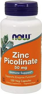 NOW Supplements, Zinc Picolinate 50 mg, 120 Veg Capsules