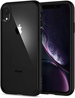 Spigen [Ultra Hybrid] iPhone XR Case 6.1 inch with Air Cushion Technology and Clear Hybrid Drop Protection for iPhone XR (2018) - Matte Black