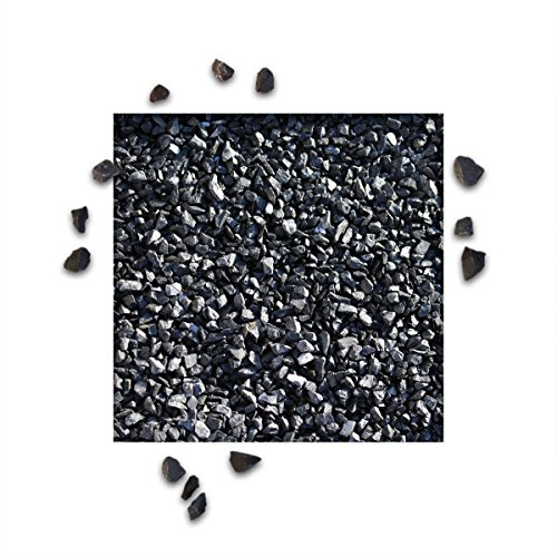 25 kg Marmorsplitt Ebano Schwarz Körnung 8/12 mm Zierkies Ziersplitt Deko Marmor Dekoration Splitt NEU