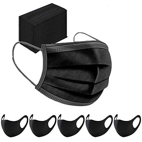 CAUTENA 100 STK Mundschutz Maske Schutzmaske Plus 5 Mund und Nasenschutz Waschbar Staubschutzmaske Wiederverwendbar Atmungsaktiv Mundschutz Winddicht Unisex Halstuch