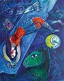 HNZKly Abstrakter Charakter Poster Kubismus Gemälde Marc
