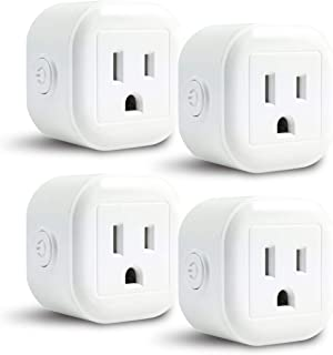 Greendot WiFi Smart Plug Mini, Smart Home Power Control Socket, Remote Control Your Household Equipment from Everywhere, No Hub Required, Compatible with Alexa and other assistant (4 Packs)
