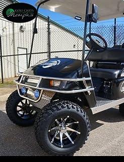 "EZGO TXT Electric Golf Cart 2001-2013 6"" STEELENG Lift Kit + 12"" Steeleng Wheels and 23"" All Terrain Tires - Set of 4 (GOLF CART NOT INCLUDED)"