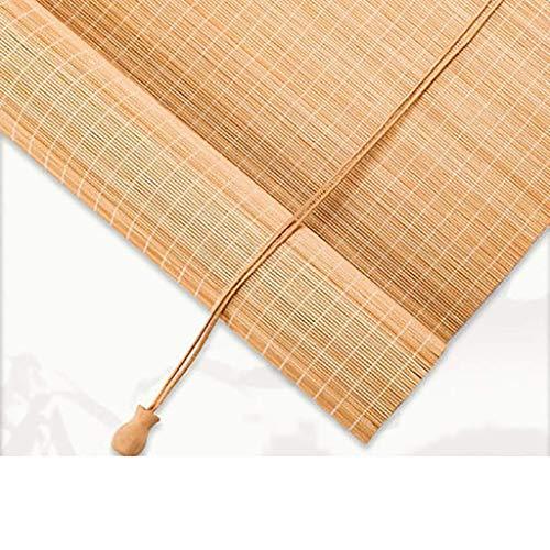 Bambus Rollo, getönte Fenstervorhänge, Lichtfilter Roll Up Rolläden for Studium, Balkon, Restaurant, Tea House, Unterstützung Customization Privacy Fenster-Vorhänge (Farbe: F, Größe: 60 * 220CM) 1yess