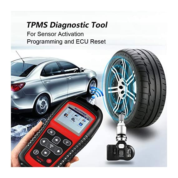 Autel MaxiTPMS TS501 TPMS Relearn Tool Automotive Scan Tool with Activate TPMS Sensors/TPMS Sensor Programming/Program… 6 【Upgraded Version of TS408, 2021 Newest】TS501 TPMS Tool can diagnose newest models up to 2020 with frequent updates. It packed ALL TPMS service options: TPMS programming(MX-Sensors), sensors Relearn/Activation, TPMS Reset and TPMS health diagnose, read sensor data, key fob frequency test. Please send VIN to : ❤Autelonline @outlook.com❤ CHECK COMPATIBILITY. 【TPMS Programming】 TS501 TPMS Programming Tool enables all car enthusiasts to program sensor data to Autel MX-Sensors with ease, saving you the money and trip to a dealership. With TS501, you can program AUTEL MX-Sensor (315/433MHz) with 4 programming options: Copy By Activation, Copy By Manual Input, Auto Create and Copy by OBD( Not available with TS408) to replace the faulty sensor with low battery life or one that is not functioning well. 【Relearn All TPMS Sensors】TS501 has added Relearn by OBD comparing with TS408. To turn off the TPMS warning light after replacement, you need to relearn the sensors to the vehicle! Autel TS501 TPMS Relearn Tool provides 3 ways of on-tool relearn precedures to relearn both OE and aftermarket sensors: Stationary Relearn, Automatic Relearn & OBD Relearn.