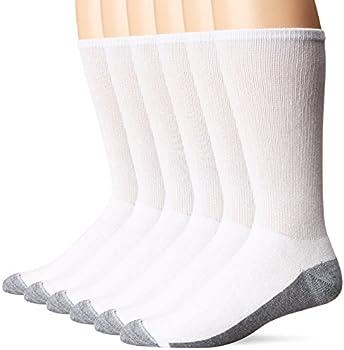6-Pack Hanes ComfortBlend Crew Max Men's Cushion Socks