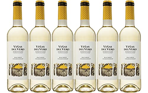 Viñas Del Vero Blanco Macabeo-Chardonnay - Vino D.O. Somontano - 6 botellas de 750 ml - Total: 4500 ml