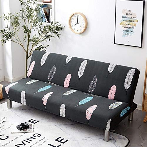 WEDZB Sofa hoes,All-inclusive Opklapbare Slaapbankhoes Strakke Wrap Sofa HanddoekGeen armleuningen Strakke Wrap Sofa Cover voor Woonkamer, 2, M (lengte 150,190 cm)