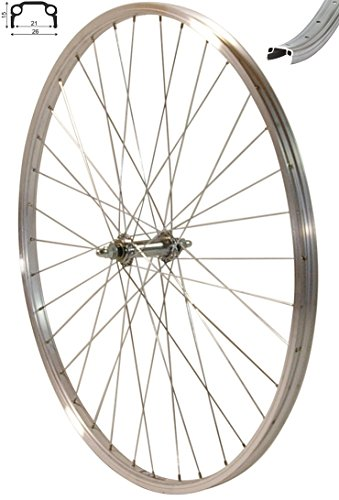 """Redondo 28 Zoll Vorderrad Laufrad Fahrrad 28\"""" Kasten Felge Aluminium Silber"""