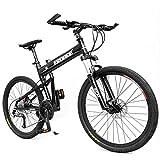 Bicicletas de montaña para niños Adultos, bicis de montaña rígidas de Aluminio con Marco de suspensión Completa