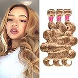 Best Hair Weave Blonde 3 Bundles - WOME Peruvian Virgin Human Hair Bundles #27 Honey Review