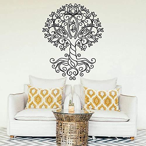HGFDHG Árbol de la Vida Pegatina de Vinilo para Pared Bohemia árbol de la Vida Pegatinas de Pared Boho Dormitorio residencial decoración de Sala de Estar Mural