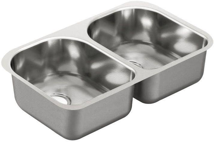 Moen G20253 2000 Series 20 Long Beach Mall Gauge Sink Bowl Double Austin Mall St Undermount
