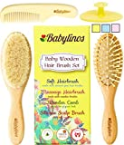 4 Piece Baby Hair Brush Set with Natural Hair Products: Baby...
