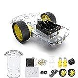 diymore 2WD Robot Smart Car Chassis DIY Kits Motor Inteligente con Velocidad de Seguimiento y Taco Encoder 65x26mm Neumático para Arduino Raspberry Pi