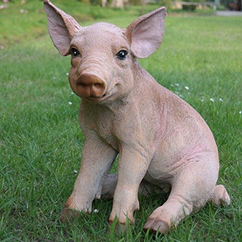 Dekofigur Schwein Ferkel Eber Schweinchen Bauernhof Glücksschwein Gartenfigur