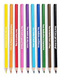 ban.do Write On Pre-Sharpened Colored Pencil Set of 10, Compliments