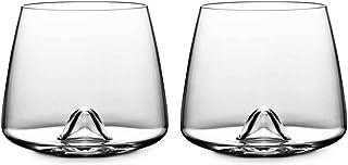 Normann Copenhagen 120910 Whiskeyglas 2-er Set, Höhe 8,2 cm Durchmesser 7,3 cm, 30 cl
