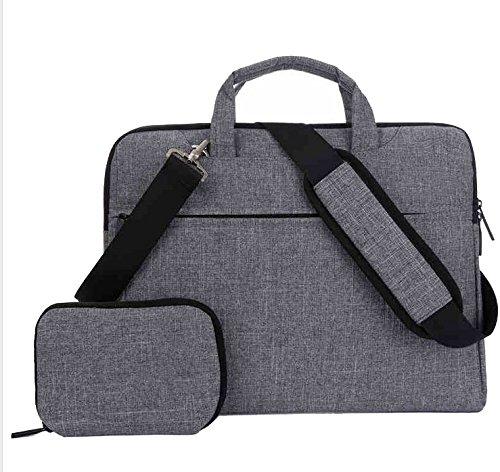 Canvas Briefcase Shoulder Messenger Bag Case for Dell Precision 7730 / Inspiron 17 5770 / Acer Predator Helios 500 / Aspire 5 (2018) / Alienware 17 R5 / Aorus X9 17.3 Laptops