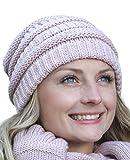 Hilltop Metti insieme il tuo set station wagon invernale: Sciarpa, berretto in maglia coordinato e guanti coordinati, Set/colore/compilazione:Cap rosa antico