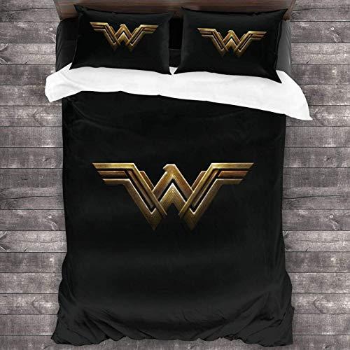 Yuanmeiju Juego de Cama Wonder Woman Comforter Set, 3 Piece Bedding Set, 86X70 Set with 1 Quilt Set and 2 Pillowcase Soft and Comfortable