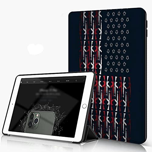 She Charm Carcasa para iPad 10.2 Inch, iPad Air 7.ª Generación,Gun Country USA Flag,Incluye Soporte magnético y Funda para Dormir/Despertar
