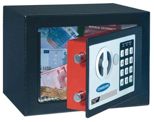 Cassaforte a mobile di piccole dimensioni,cassetta di sicurezza da appoggio Dagobert nero con chiusura elettronica per casa/albergo/motel