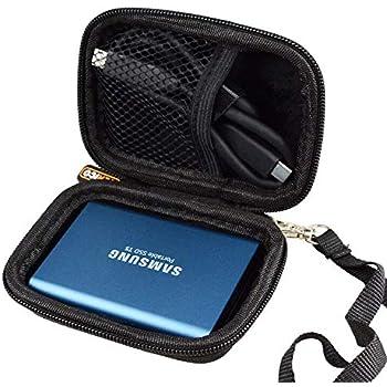WERICO Duro Estuche Viajes Funda Bolso para Samsung T5 / T3 500GB 250GB 2TB 1TB Disco Estado sólido SSD Externo: Amazon.es: Electrónica