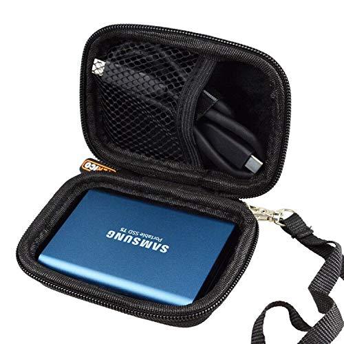 WERICO Duro Estuche Viajes Funda Bolso para Samsung T5 / T3 500GB 250GB 2TB 1TB Disco Estado sólido SSD Externo