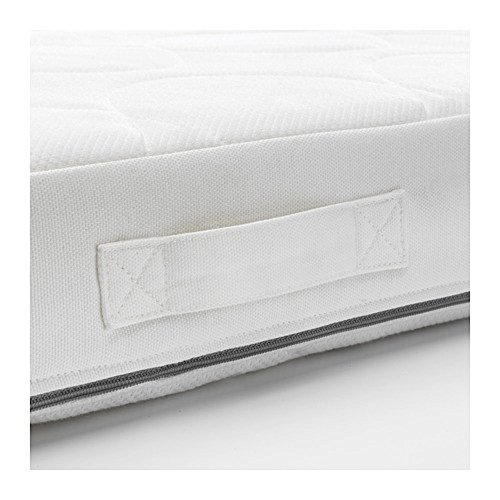IKEA/イケアJATTETROTTポケットスプリングマットレスベビーベッド用60x120x11cmホワイト/グレー20348108
