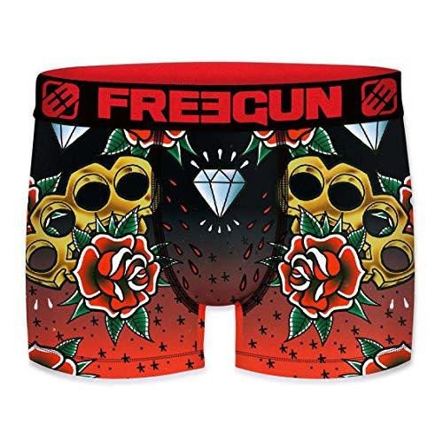 FREEGUN Boxershorts für Herren, mit Tattoos Gr. S, Mehrfarbig