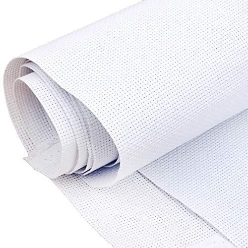 "Cross Stitch Fabric, JUSTDOLIFE 14 Count Aida Cloth Cross Stitch Cloth Embroidery Cloth 59 X 39"" for Home DIY Embroidery Decor (White)"