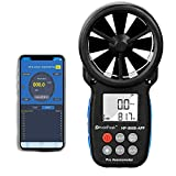 Anemómetro Bluetooth Digital con Control Aplicación Inteligente&Soporte de Registro,Inalámbrico Medidor de Velocidad del Viento para Medir la Velocidad del Viento,Temperatura y Enfriamiento del Viento