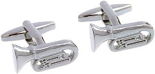MRCUFF Tuba Euphonium Bass Tuba Pair of Cufflinks in a Presentation Gift Box & Polishing Cloth