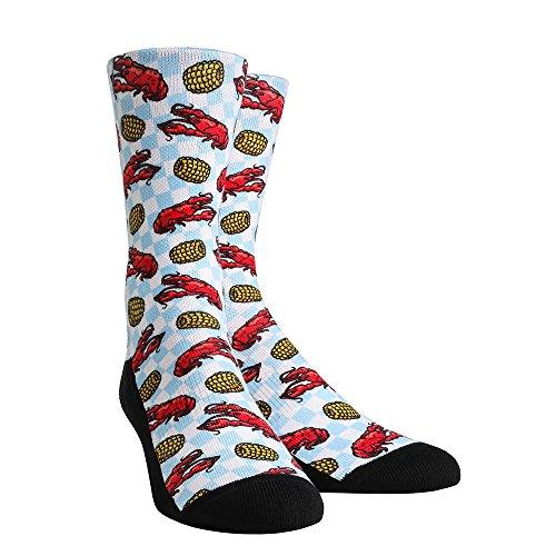 Rock Em Elite Food - LOUISIANA CRAWFISH AND CORN Crew Socks (L/XL...