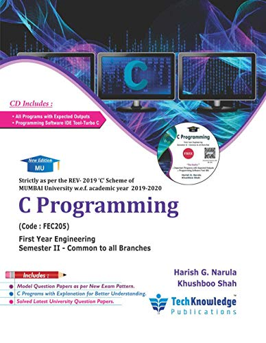 C Programming For MU B.E. Common to All Branches Sem 2