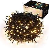 Luci natalizie per interni ed esterni 35m 320 LEDs con 8 modalità di memoria un capo all'altro estensibile Stringa Luci Decorazione per Giorno di Natale alberi domestici Festa di nozze - Bianco caldo
