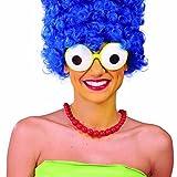 NET TOYS Gafas Ojos saltones Lentes de Rana Anteojos Marge Simpson Luneta Divertida de Carnaval Accesorio Fiesta de Disfraces Complemento para Despedida de Solteros